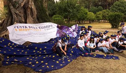 Bambini e studenti il 22 maggio alla Festa dell'Europa 2019 a Palermo - 405 px