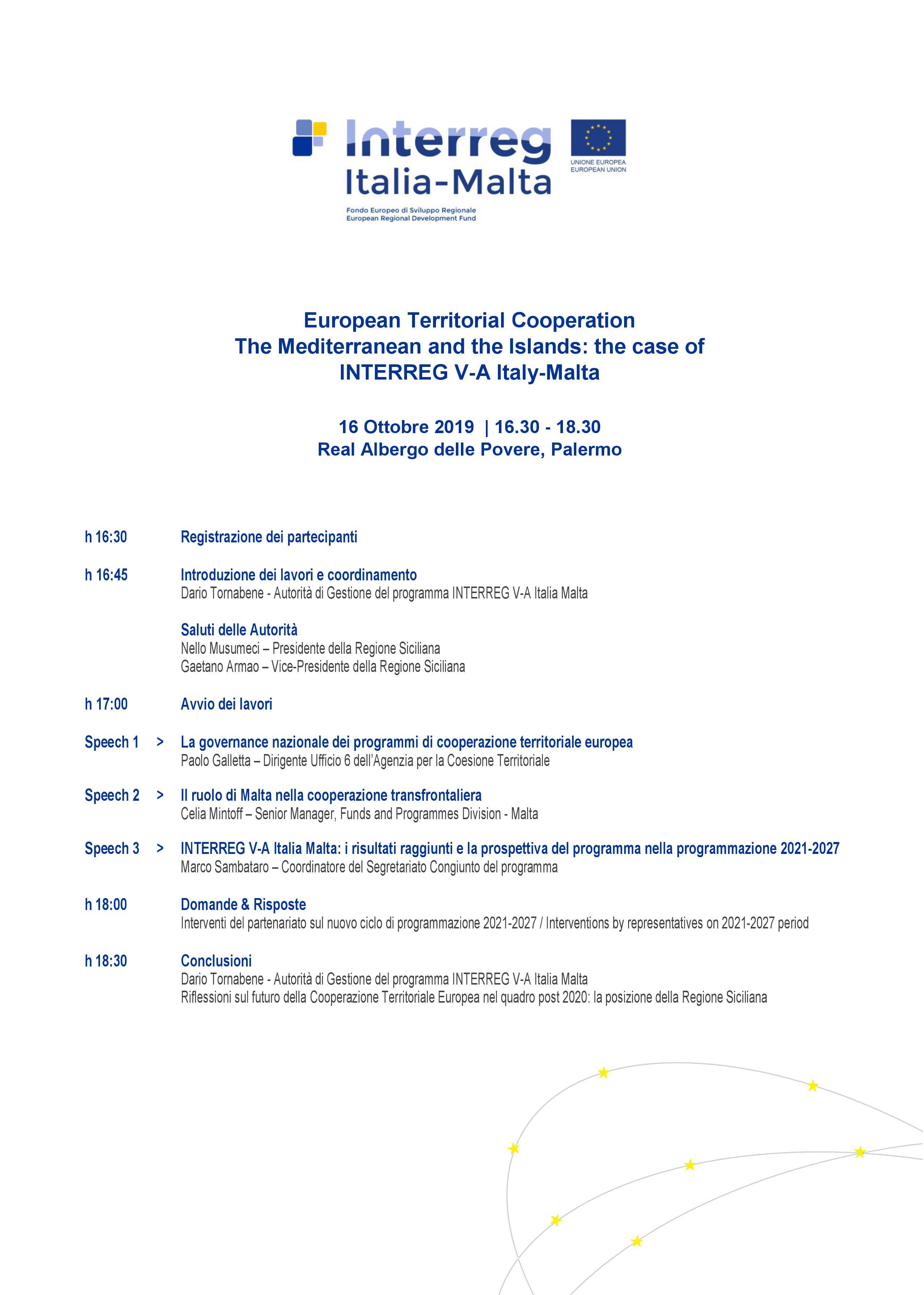 dibattito Italia-malta 16 ottobre 2019
