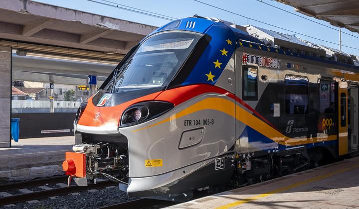 EuropeLoveSicily: presentato il primo dei 21 nuovi treni Pop acquistati con i fondi Ue - 720 px